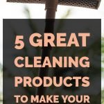 5 Great Cleaning Products To Make Your Cleaning Work Easier